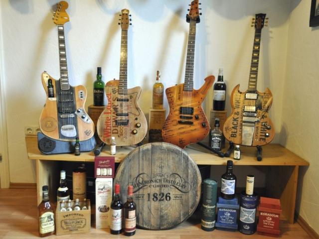 Ardbeg, Dewar's, Jack Daniels, Black & White, Yukon Jack,Glenfarclas, Glendronach, Edradour