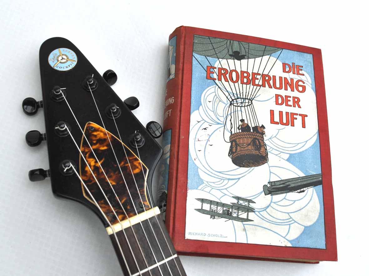 Veranda Cockpit Guitar mit Gibson Humbucker, Flugzeug Gitarre