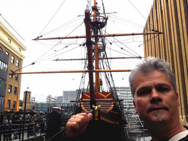 The Golden Hinde - River Thames London - Robert Walch