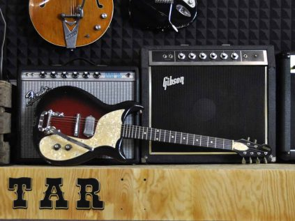 Gretsch Guitar with Fender Amp